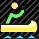 canoe, person