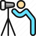 landmarks, telescope, person