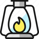 outdoors, flame, lantern
