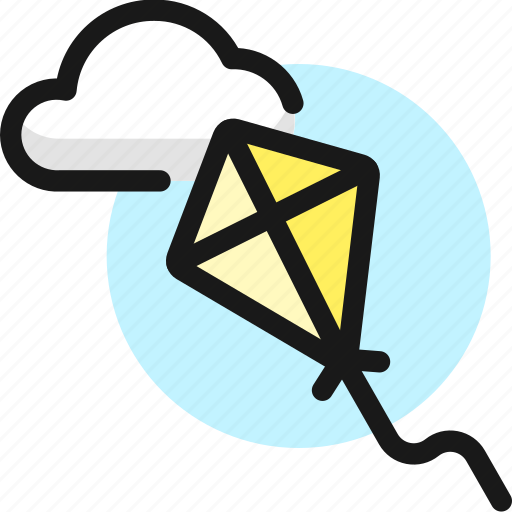 Outdoors, kite, flying, cloud icon - Download on Iconfinder
