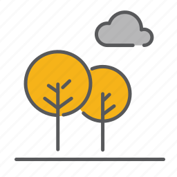 autum, cloud, fall, leaves, outdoor, season, tree icon