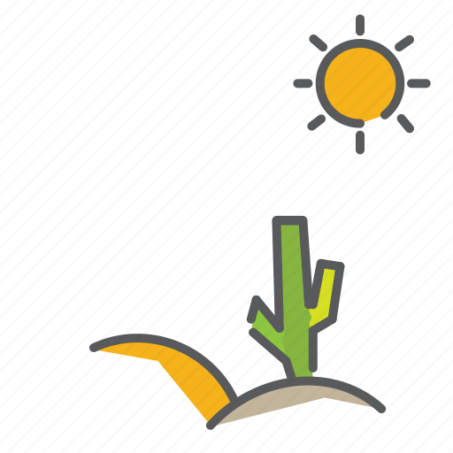 autum, cactus, desert, fall, season, sun, wilderness icon