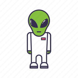 alien, green, monster, space, ufo icon