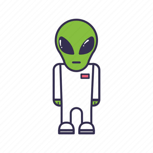 alien, green, monster, space, ufo icon