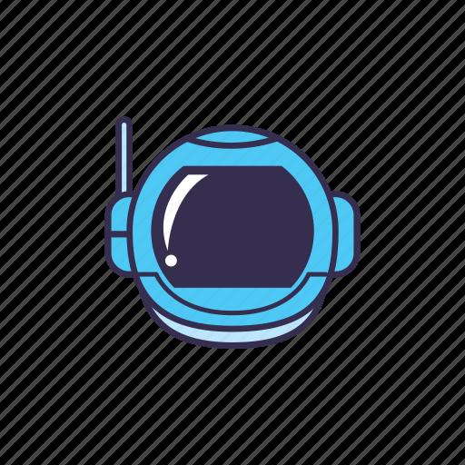 astronaut, helmet, human, space icon