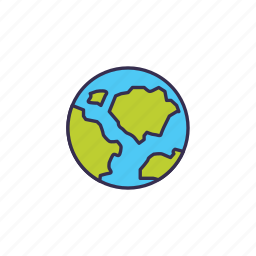 earth, live, planet, space icon