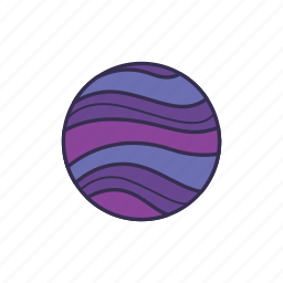 galaxy, planet, space, star icon
