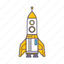 astronaut, shuttle, space, spaceship icon