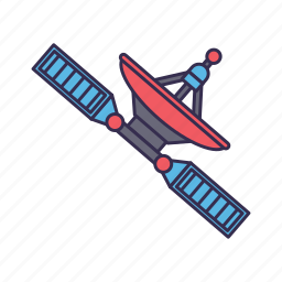 radar, satellite, signal, space icon