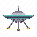 flying, space, spaceship, ufo icon