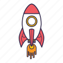 rocket, shuttle, space, spaceship icon