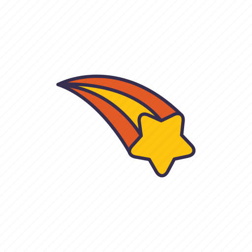 meteor, shooting, space, star icon