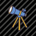 far, galaxy, space, star, telescope icon