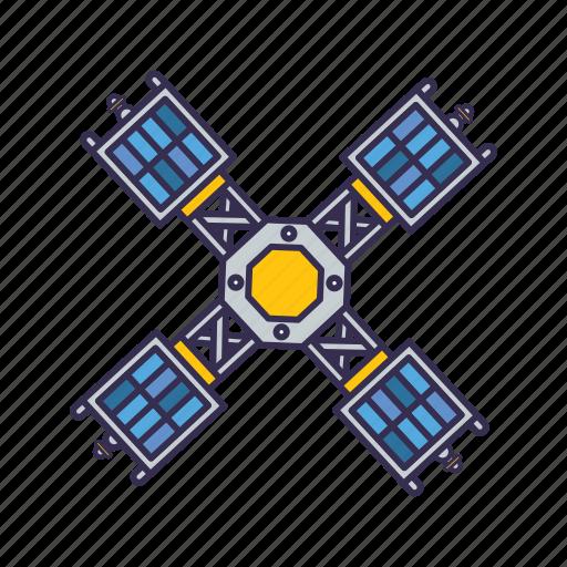 equipment, satellite, signal, space icon