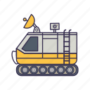astronaut, car, machine, radar, space, vehicle icon