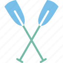boating, canoe, canoe paddle, canoe with oar icon