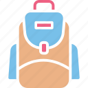 backpack, bag, school bag, school supplies icon