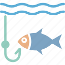 angling, fish, fishing, hook, outdoor icon