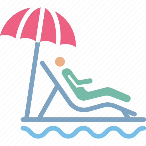 beach, chair, lounge, outdoor icon