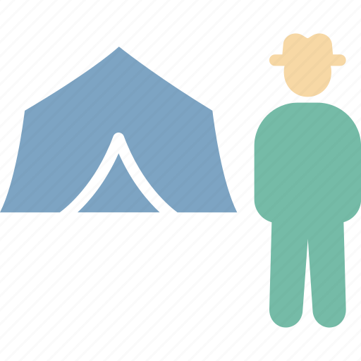 camping, journey, person, tent icon