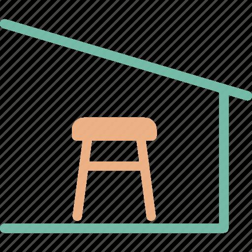 barn, bench, outdoor, outdoors icon