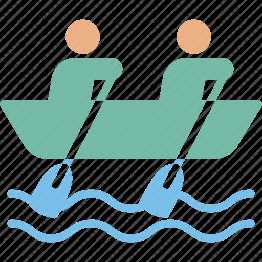 boat, canoe, human, outdoor icon