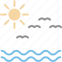 beach, birds, outdoor, recreation icon