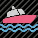 boat, nautic, outdoor, recreation icon