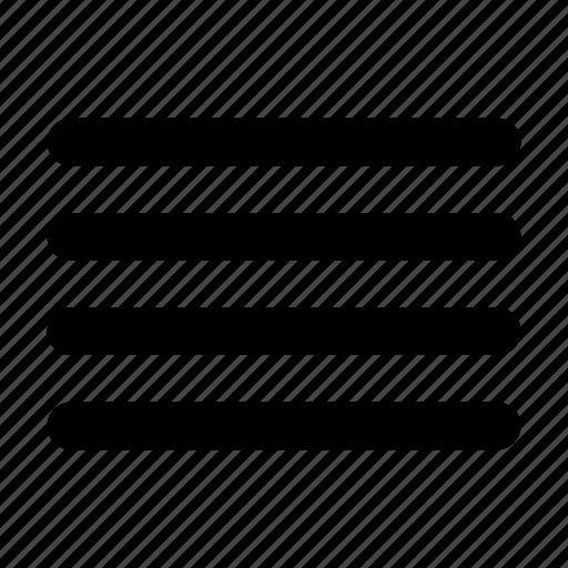 align, justify, menu, tool icon