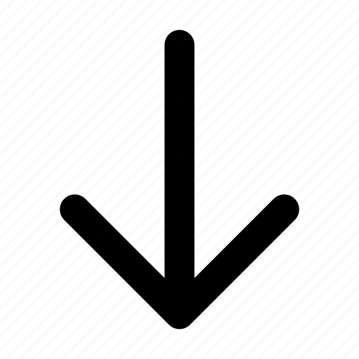 arrow, direction, down, south icon