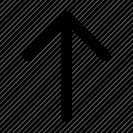 arrow, north, up, upward icon