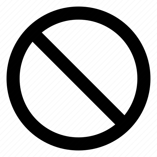 ban, cancel, denied, do not enter, inaccessible icon