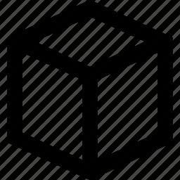 bin, box, cube, storage icon