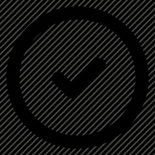authorize, check, circle, enter icon