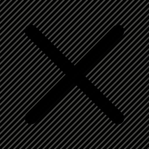 ban, cross, exit, remove icon