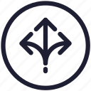 arrow, arrows, direction, interface, navigation, ui icon