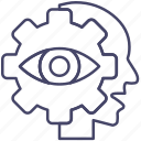 eye, human, resources, vision icon