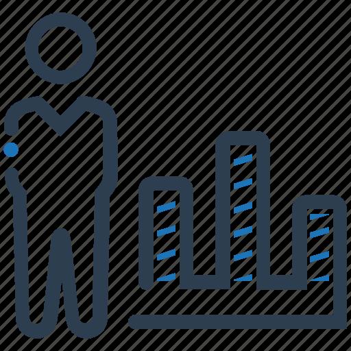 analytics, bar chart, chart, report icon