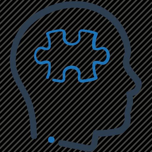 planning, puzzle, thinking icon