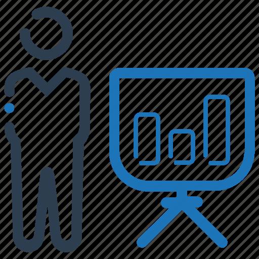 bar chart, graph, presentation icon