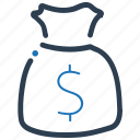 cash, finance, money bag icon