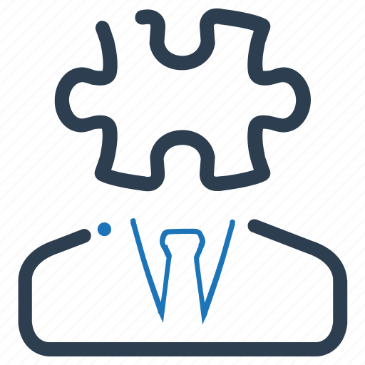 business, puzzle, solution icon
