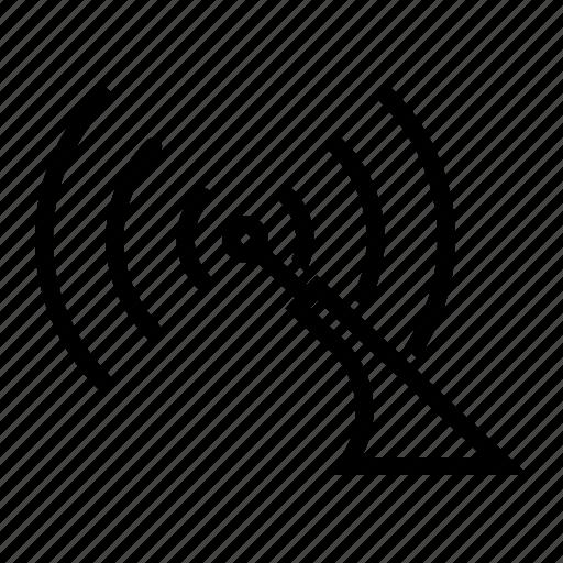 aerial, antenna, car, radio icon