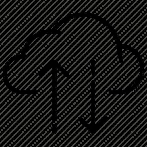 arrow, cloud, data, download, traffic, upload icon