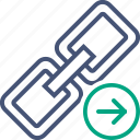 chain, connection, link, next, url, web icon