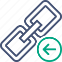 chain, connection, link, previous, url, web icon