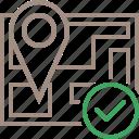 gps, location, map, marker, navigation, ok, pin