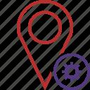 gps, location, map, marker, navigation, pin, settings