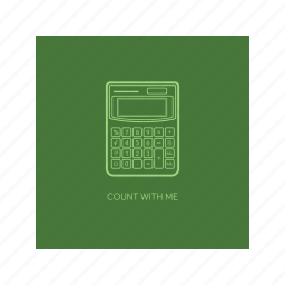 calculator, count, mathematic, number, outline icon