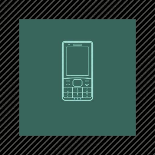 electronic, handphone, nokia, outline, phone icon